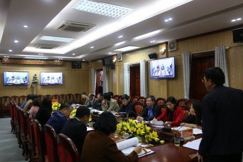 UBND huyện Hoằng Hóa tổ chức hội nghị trực tuyến Sơ kết học kỳ I, triển khai nhiệm vụ trọng tâm học kỳ II năm học 2019 -2020.