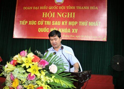 Ảnh 3. Đồng chí Lê Sỹ Nghiêm – Phó bí thư Huyện ủy, Chủ tịch UBND huyện tiếp thu và giải trình.JPG